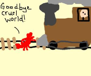 Sebastian's suicide by train.