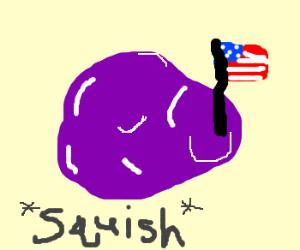 patriotic purple Squashy thing