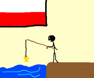 Somewhere in Poland a man is fishing