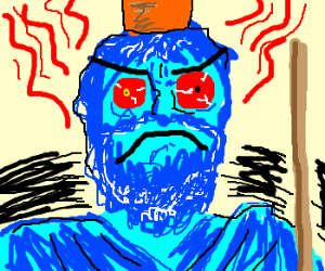 Blue Hades is angry!!!!