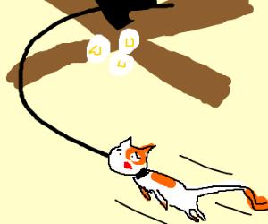 Cat tied to ceiling fan drawing by oniteskye cat tied to ceiling fan mozeypictures Choice Image