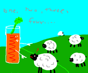 Bloody Mary counts confused sheep