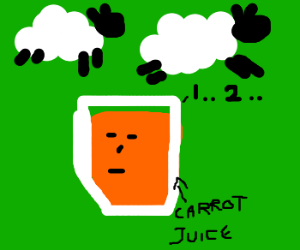 Carrotjuice counting sheep