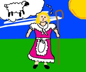 lil bo peep thinking of sheep
