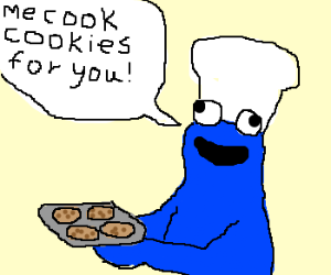 Cookie Monster cooks for you!