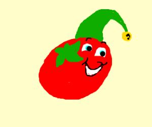 happy little tomato elf