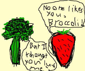 Broccoli and Strawberry's anniversary