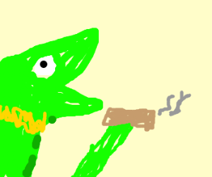 Kermit drinks bleach - DrawceptionKermit Drinking Bleach