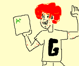 ginger happy about good grades