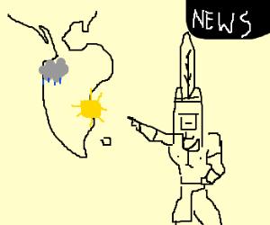Native American Weather Man