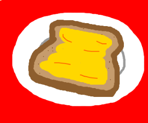 Huge buttered slice of toast