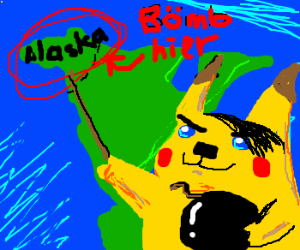 Hitler Pikachu wants to bomb alaska
