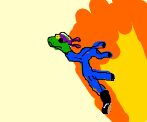 Snake flies away from an explosion!