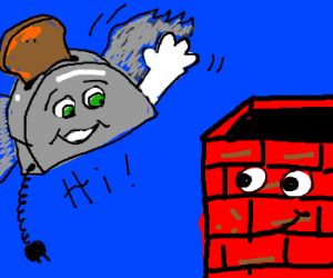 flying toaster greets chimney