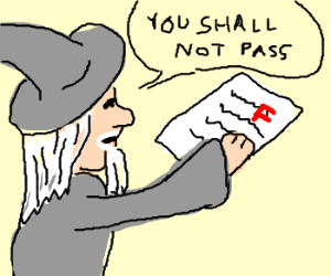 gandalf marks exams (you shall not pass)