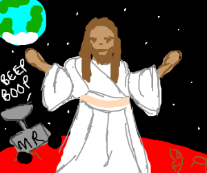 Jesus wanders the surface of Mars