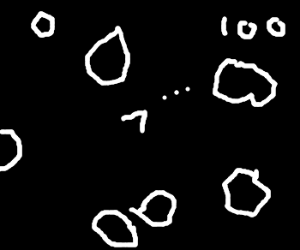 that old asteroids game