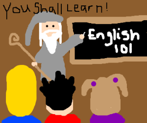 Gandalf Teaches Middle School English