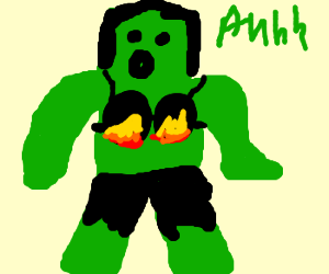 Hulk Bra On Fire