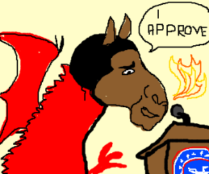 Horse-headed dragon Obama approves.