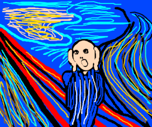 The Cry by Edvard Munch. Nice BTW lol!