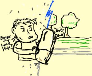 legless man erases life around him