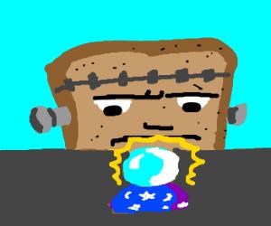 frankenstein toast contemplates future