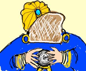 Franken-Toast the Fortune Teller.