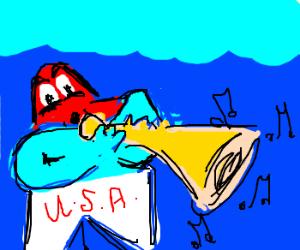 American starfish plays horn undersea