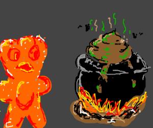 Sour Patch Kid encounters poo cauldron.