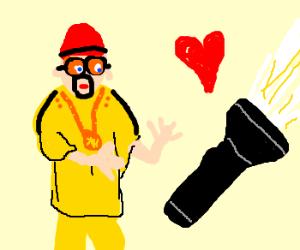 Ali G loves dat torch, man