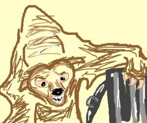 garr! i'm a blind bear eatin' garbage!