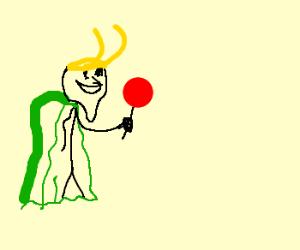 Loki likes lollipops