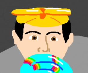 Loki with lollipop