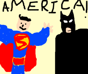 the justice league: of AMERICA!