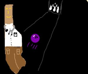 Dr Manhattan tries bowling