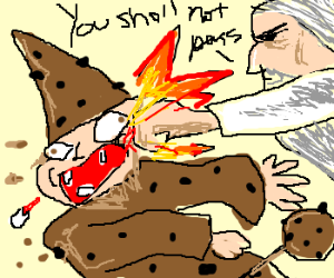 gandalf boxes the cookie crisp wizard