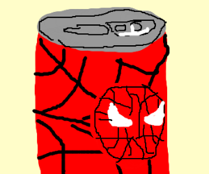 Can of Spiderman-branded drink