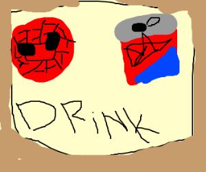 spiderman spidercan beer adverstisement