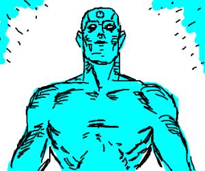 Doctor Manhattan has no nipples