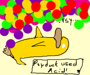 Psyduck on an acid trip