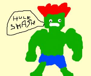 Hulk grows red hair
