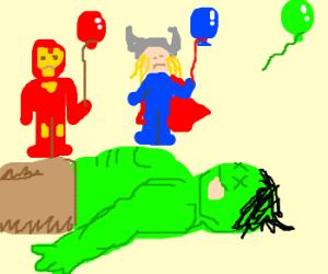 Dead Hulk has no soul balloon