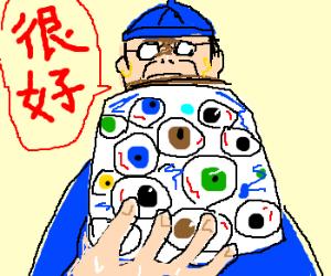 Chinese man keeps jar of eyes