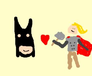 Batman has affair with Thor