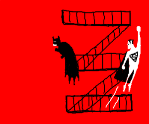 Superman and Batman in West Side Story