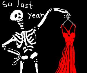 gay skeleton is a fashion-victim