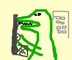 Godzilla shows off his guns