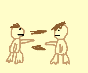 2 Monkeys Throwing Poop At Each Other Drawception