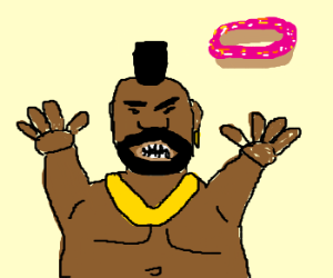 Obese Mr. T Wants More Donuts